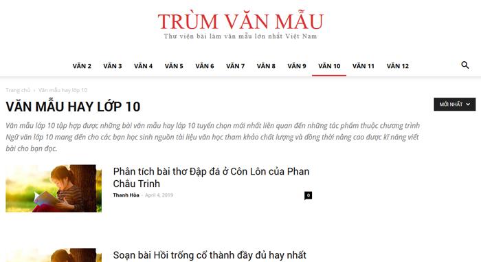 top 10 website nhung bai van mau hay lop 10 moi nhat 1 - Top 10 website những bài văn mẫu hay lớp 10 mới nhất
