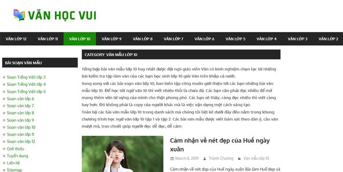 top 10 website nhung bai van mau hay lop 10 moi nhat 2 - Top 10 website những bài văn mẫu hay lớp 10 mới nhất