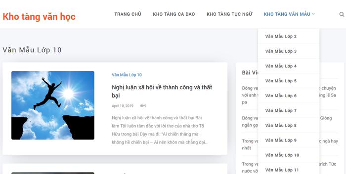 top 10 website nhung bai van mau hay lop 10 moi nhat 5 - Top 10 website những bài văn mẫu hay lớp 10 mới nhất