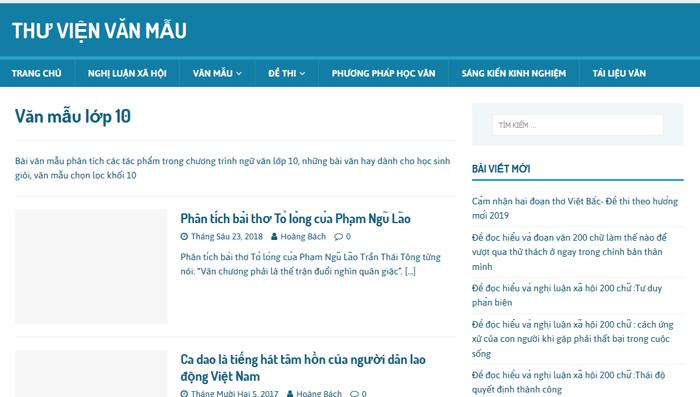 top 10 website nhung bai van mau hay lop 10 moi nhat 7 - Top 10 website những bài văn mẫu hay lớp 10 mới nhất