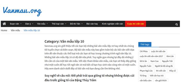 top 10 website nhung bai van mau hay lop 10 moi nhat - Top 10 website những bài văn mẫu hay lớp 10 mới nhất