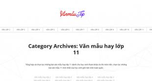 Top 10 website những bài văn mẫu hay lớp 11 mới nhất