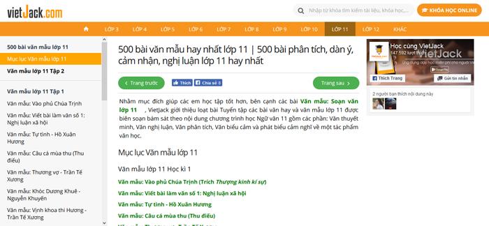 top 10 website nhung bai van mau hay lop 11 moi nhat 5 - Top 10 website những bài văn mẫu hay lớp 11 mới nhất