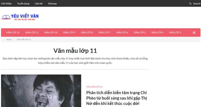 top 10 website nhung bai van mau hay lop 11 moi nhat 7 - Top 10 website những bài văn mẫu hay lớp 11 mới nhất