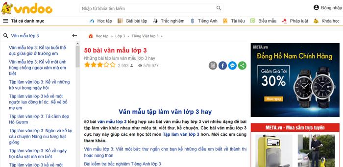 top 10 website nhung bai van mau hay lop 3 moi nhat 2 - Top 10 website những bài văn mẫu hay lớp 3 mới nhất