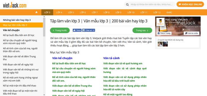top 10 website nhung bai van mau hay lop 3 moi nhat 4 - Top 10 website những bài văn mẫu hay lớp 3 mới nhất
