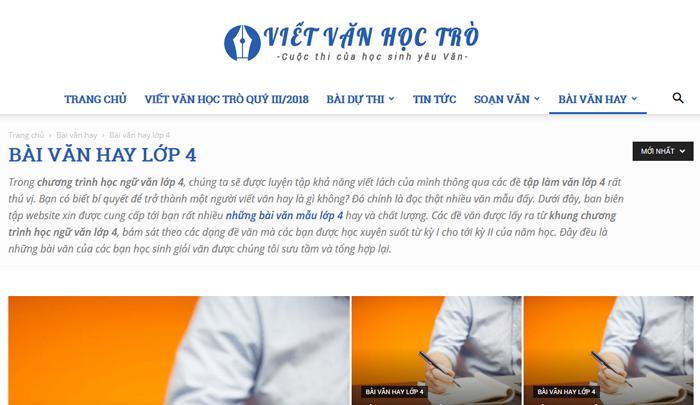 top 10 website nhung bai van mau hay lop 4 moi nhat 1 - Top 10 website những bài văn mẫu hay lớp 4 mới nhất