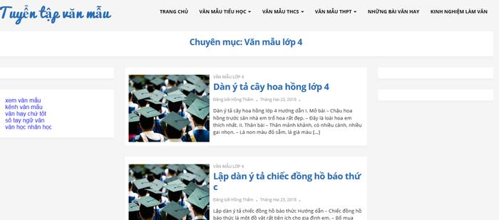 top 10 website nhung bai van mau hay lop 4 moi nhat 4 - Top 10 website những bài văn mẫu hay lớp 4 mới nhất