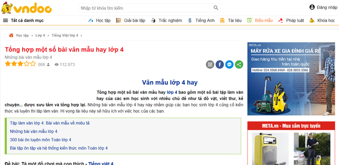 top 10 website nhung bai van mau hay lop 4 moi nhat 5 - Top 10 website những bài văn mẫu hay lớp 4 mới nhất