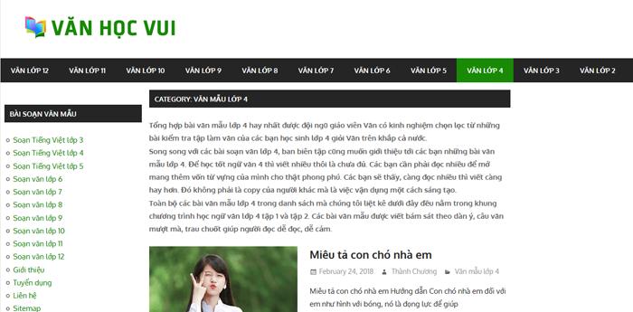 top 10 website nhung bai van mau hay lop 4 moi nhat - Top 10 website những bài văn mẫu hay lớp 4 mới nhất