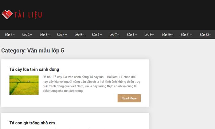 Top 10 website những bài văn mẫu hay lớp 5 mới nhất