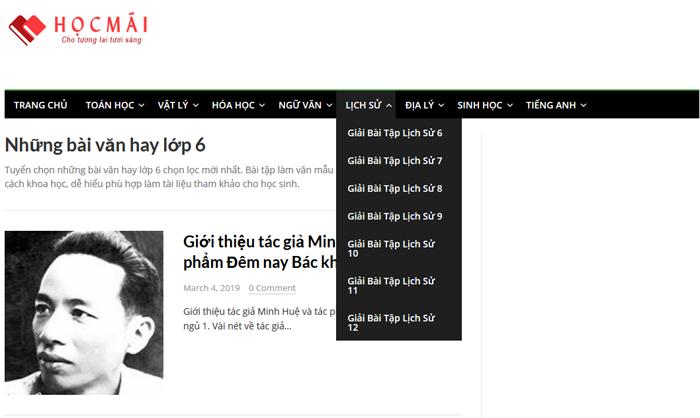 top 10 website nhung bai van mau hay lop 6 moi nhat 4 - Top 10 website những bài văn mẫu hay lớp 6 mới nhất