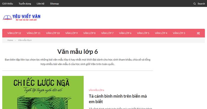 top 10 website nhung bai van mau hay lop 6 moi nhat - Top 10 website những bài văn mẫu hay lớp 6 mới nhất
