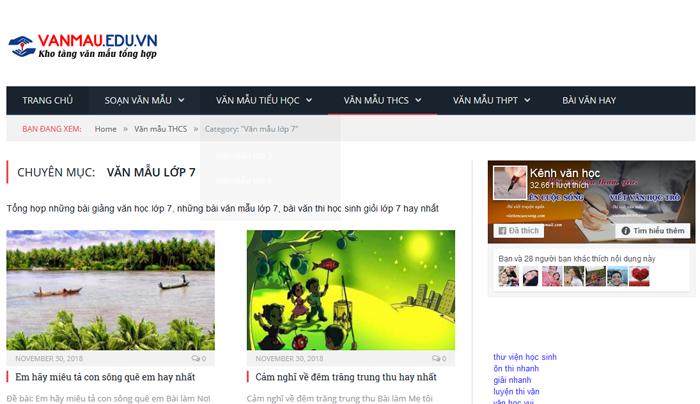 top 10 website nhung bai van mau hay lop 7 moi nhat 1 - Top 10 website những bài văn mẫu hay lớp 7 mới nhất