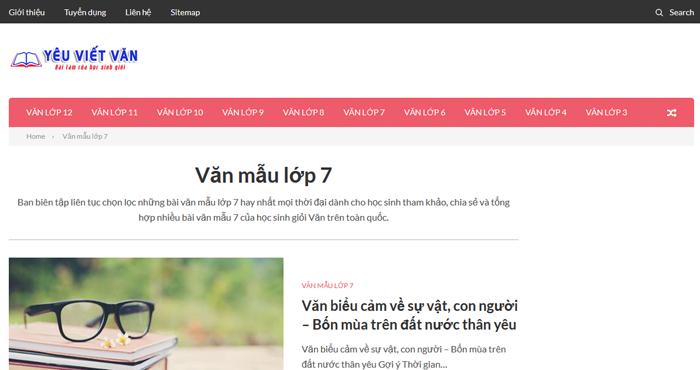 top 10 website nhung bai van mau hay lop 7 moi nhat 3 - Top 10 website những bài văn mẫu hay lớp 7 mới nhất