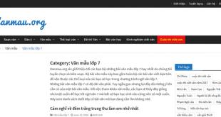 Top 10 website những bài văn mẫu hay lớp 7 mới nhất
