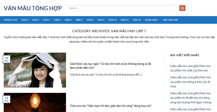 top 10 website nhung bai van mau hay lop 7 moi nhat 4 - Top 10 website những bài văn mẫu hay lớp 7 mới nhất