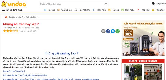 top 10 website nhung bai van mau hay lop 7 moi nhat 5 - Top 10 website những bài văn mẫu hay lớp 7 mới nhất