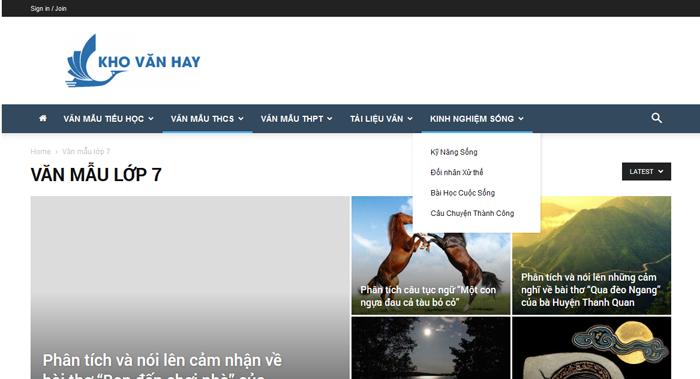 top 10 website nhung bai van mau hay lop 7 moi nhat 9 - Top 10 website những bài văn mẫu hay lớp 7 mới nhất