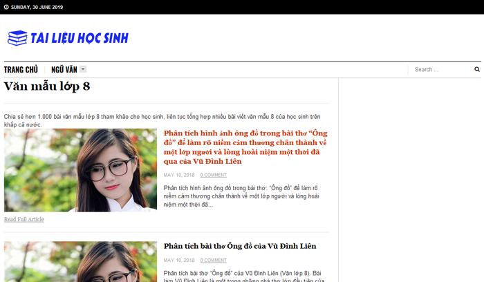top 10 website nhung bai van mau hay lop 8 moi nhat 6 - Top 10 website những bài văn mẫu hay lớp 8 mới nhất