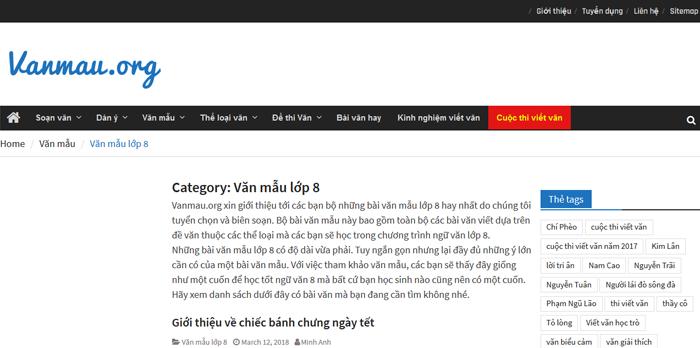 top 10 website nhung bai van mau hay lop 8 moi nhat 9 - Top 10 website những bài văn mẫu hay lớp 8 mới nhất