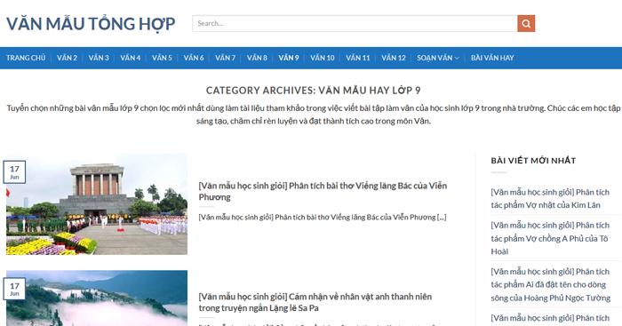 top 10 website nhung bai van mau hay lop 9 moi nhat 3 - Top 10 website những bài văn mẫu hay lớp 9 mới nhất