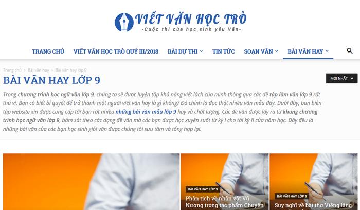 top 10 website nhung bai van mau hay lop 9 moi nhat 4 - Top 10 website những bài văn mẫu hay lớp 9 mới nhất