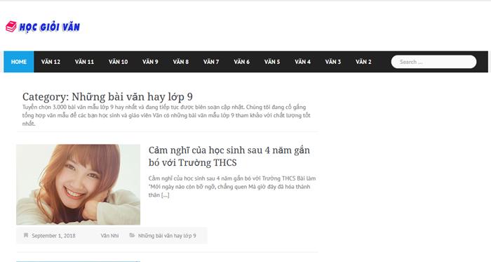 top 10 website nhung bai van mau hay lop 9 moi nhat 6 - Top 10 website những bài văn mẫu hay lớp 9 mới nhất
