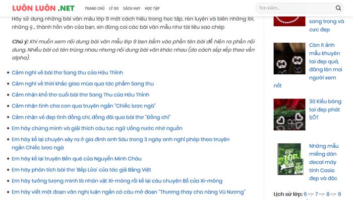 top 10 website nhung bai van mau hay lop 9 moi nhat 8 - Top 10 website những bài văn mẫu hay lớp 9 mới nhất