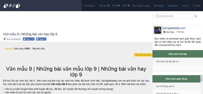 top 10 website nhung bai van mau hay lop 9 moi nhat 9 - Top 10 website những bài văn mẫu hay lớp 9 mới nhất