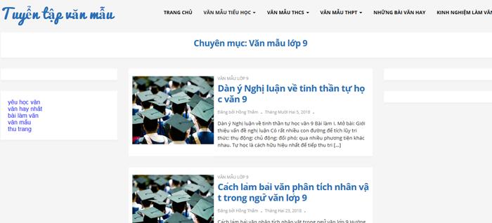 top 10 website nhung bai van mau hay lop 9 moi nhat - Top 10 website những bài văn mẫu hay lớp 9 mới nhất